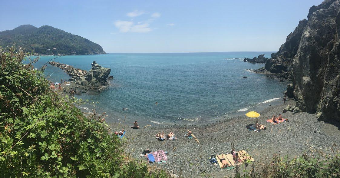 BEACH ON THE Italian Riviera