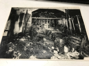the factory after it was bombed.