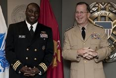 Adm Mullen and CDR Vince McBeth '87