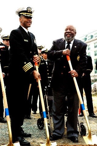 Then Capt Grooms and Wesley Brown at Wesley Field House Ground breaking Ceremony.