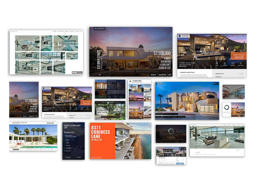 Showcase Your Property — Your Way. - Each and Every one of our Listing Websites & template styles includes a dedicated area to showcase each element of your property.By staying with a clean & minimal design throughout, all of our sites highlight information in a beautiful easy-on-the-eye fashion.
