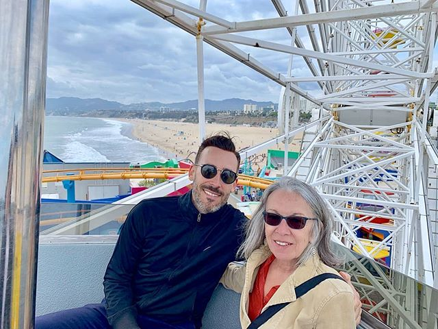 Yesterday at Santa Monica Pier on the ferris wheel with Mom-Dukes 🎡🎠❤️
