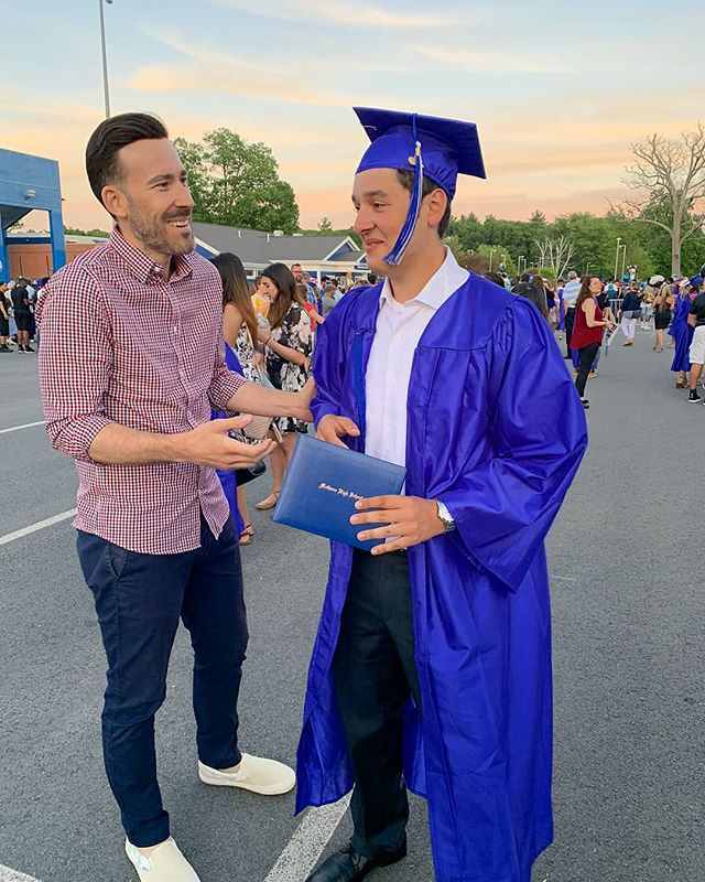 "This is what I call ""awkward advice for high school grads from old people."" 🤣😲🤣 Congrats Sebastian -- Proud of you dude 👨🏻‍🎓🎓"