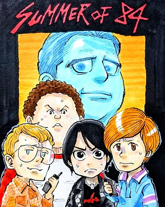 This @summerof84movie artwork by @miz_no_8ight made my Tuesday 🤩🤯💀👻