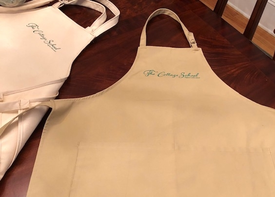Copy of Handmade Cottage School Aprons with Embroidered Logo