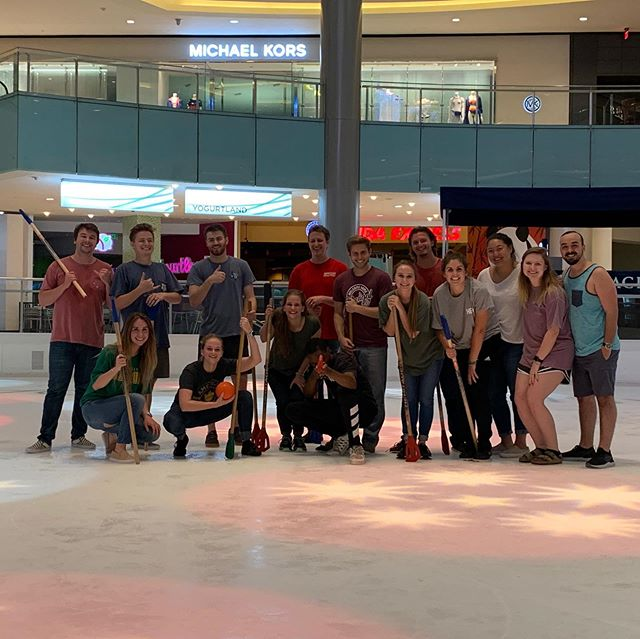 Broomball tonight was awesome! Ripped jeans and bloody knees included!