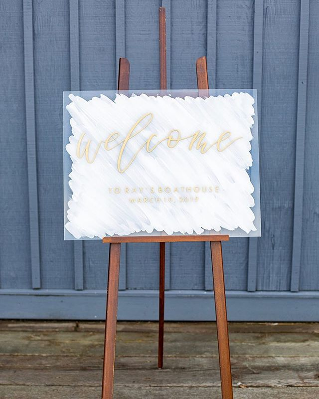 Holy holiday weekend! What a fun one it was but I think I might need an extra day, how is tomorrow already Monday?! 😑 . . . . . Photo @emmaleephotography  Venue @raysboathouse  #acrylicweddingsign #acryliclove #seattlebride #seattleweddinginspo #seattleweddingvendor #seattleweddingcalligraphy #raysboathousewedding #rayswedding #raysboathouse #acrylicwelcomesign #acrylicweddingdecor #seattlebride #seattlebrideandgroom #seattlewedding #welcomesign #weddingwelcomesign