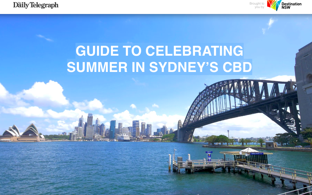 THE DAILY TELEGRAPH, ON BEHALF OF DESTINATION NSW.  CLICK HERE TO READ.
