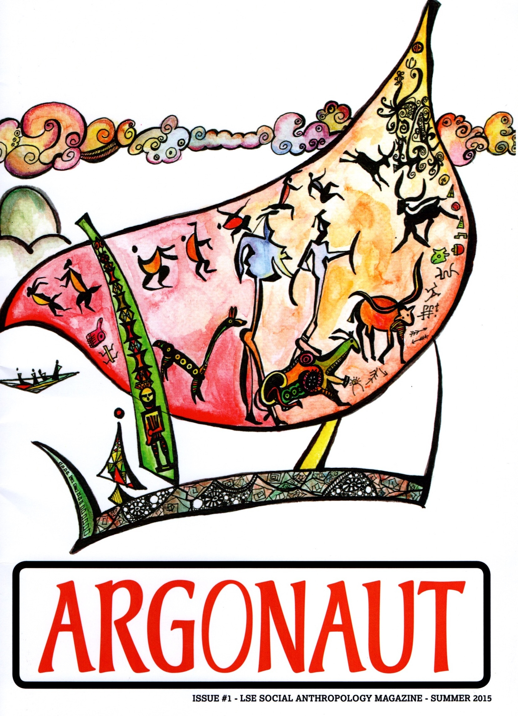 The cover of the first issue of the Argonaut (2015).