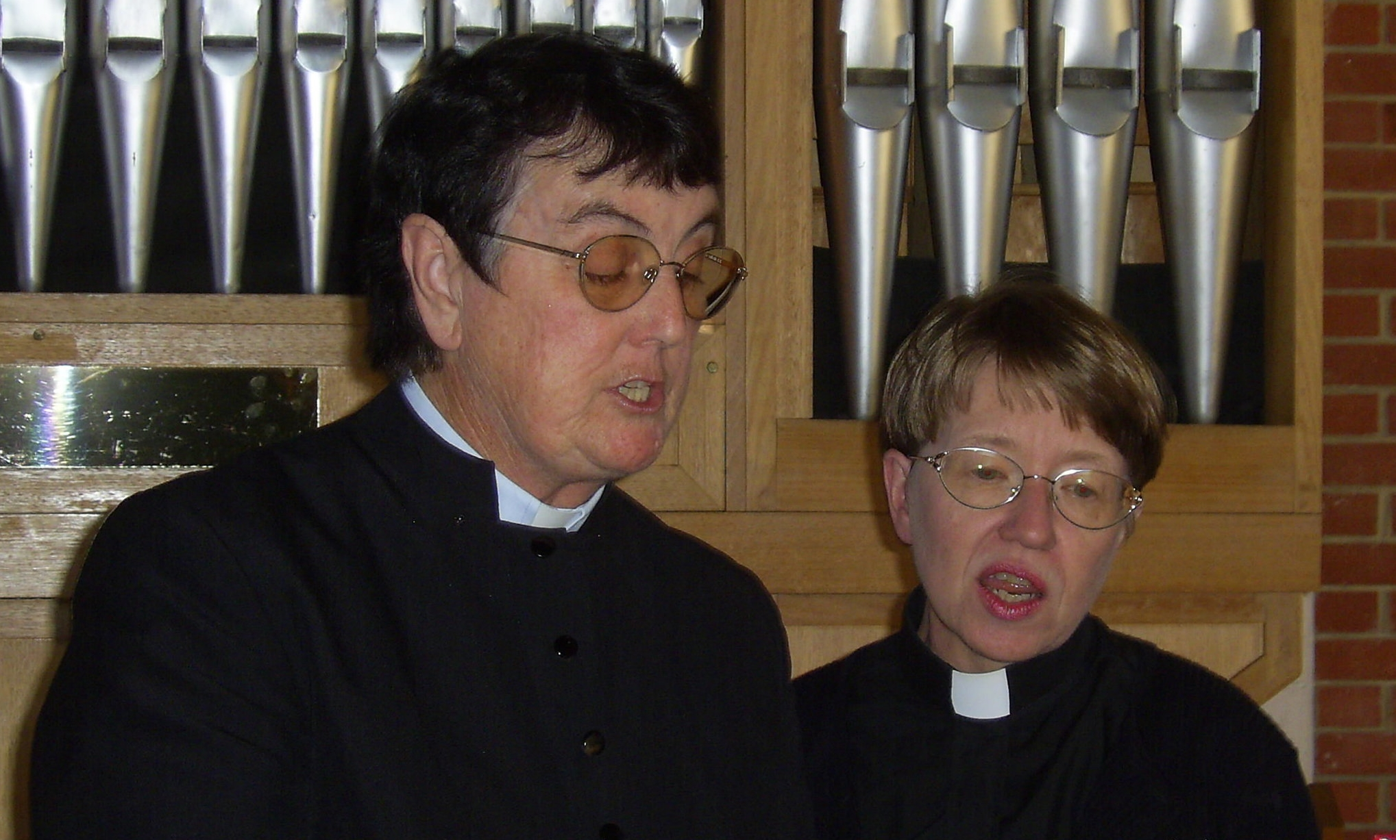 Sr Juliana and the Rev'd Prue O'Donovan singing a duet.
