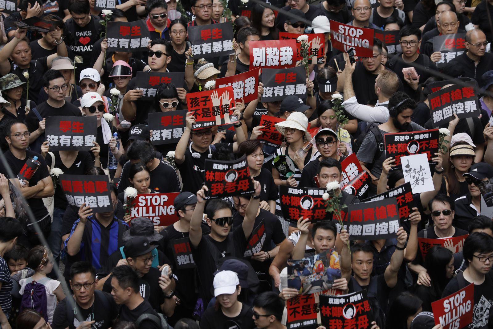 Protesters in Hong Kong- Vincent Yu (AP)