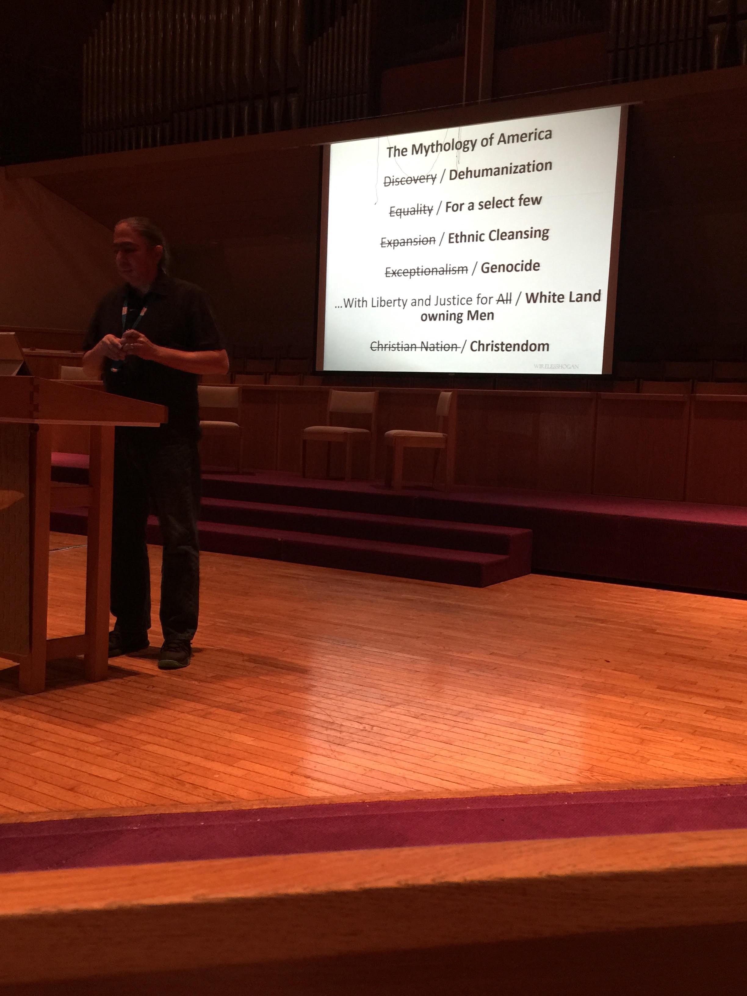 Mark Charles at Project Peace Speaker Series- Berkeley, CA