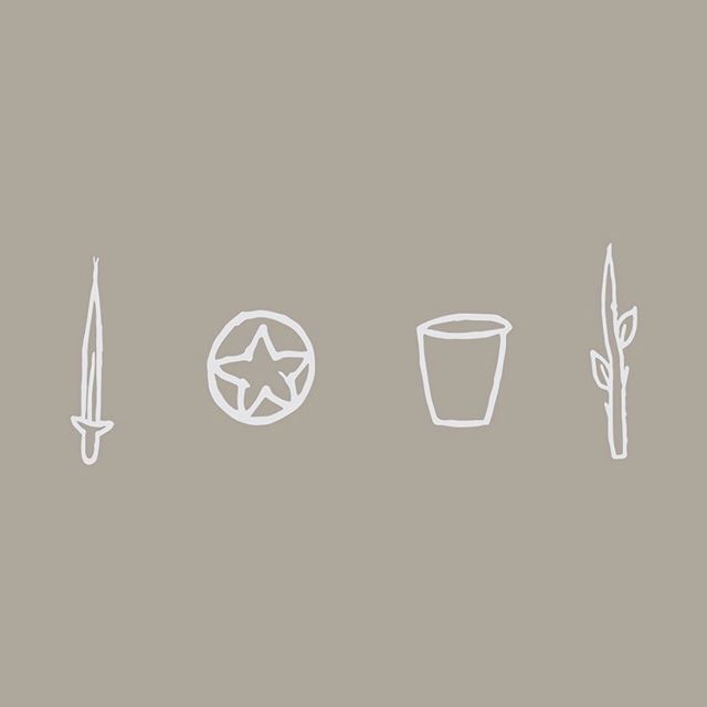 Playing around with swords, pentacles, cups and wands for a personal project✨ Toss up an emoji if you have an idea of what I'm scheming 😉