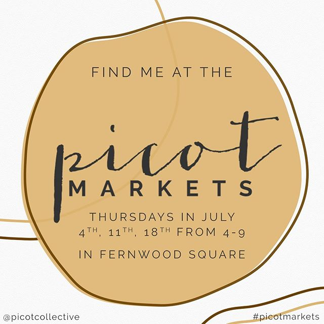 Today's the big day ✨ Our first night market of the summer season is tonight! I'll be there all evening helping out our favourite vendors 🧡 Now the only question is, @mesafamiliar tacos or @fernwoodpizzacompany for dinner tonight? #picotmarkets #picotnightmarkets