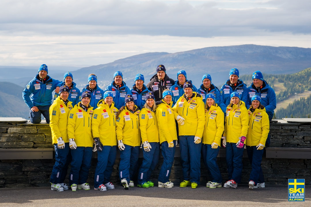 sweden alpine ski team sponsored by goldwin since '87