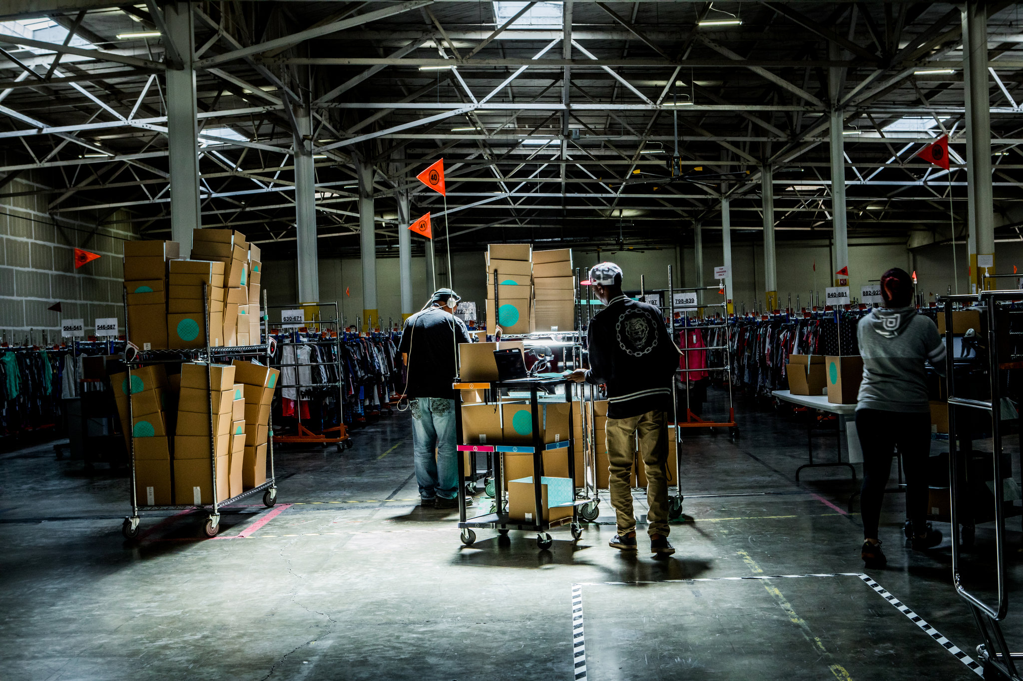 A Stitch Fix warehouse in San Francisco. The company relies on algorithms to help personalize shipments to customers.  CreditChristie Hemm Klok for The New York Times