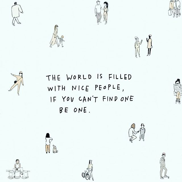 @mindbodygreen 😍 //📷@aolanow .  #nicepeople #presence #itseasy #benice #mindbodygreen #illustration  #aolanow