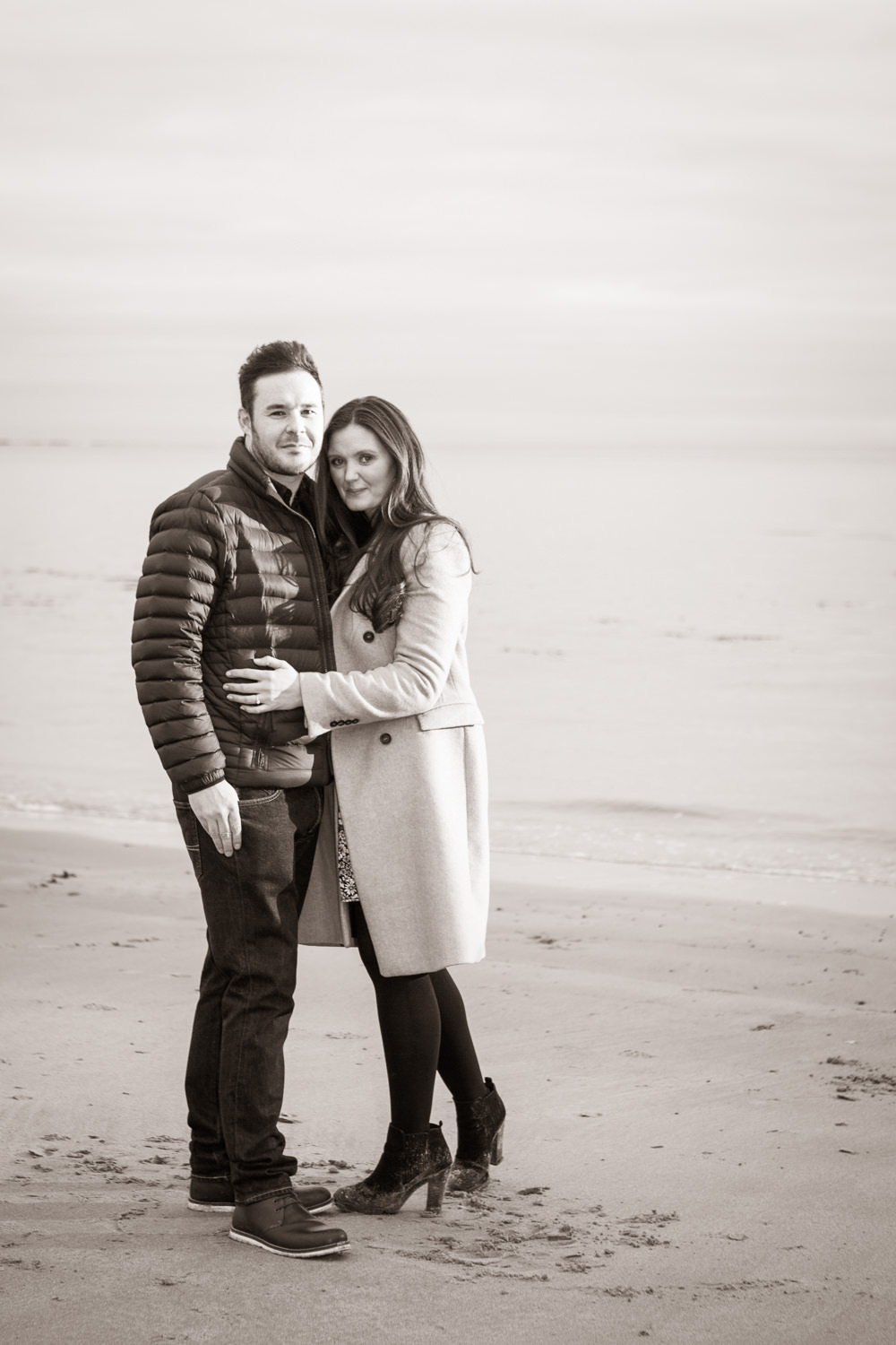 engagement pre wedding photo newton by the sea