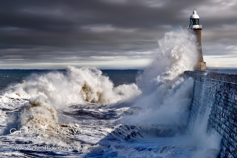 Tynemouth storm sea