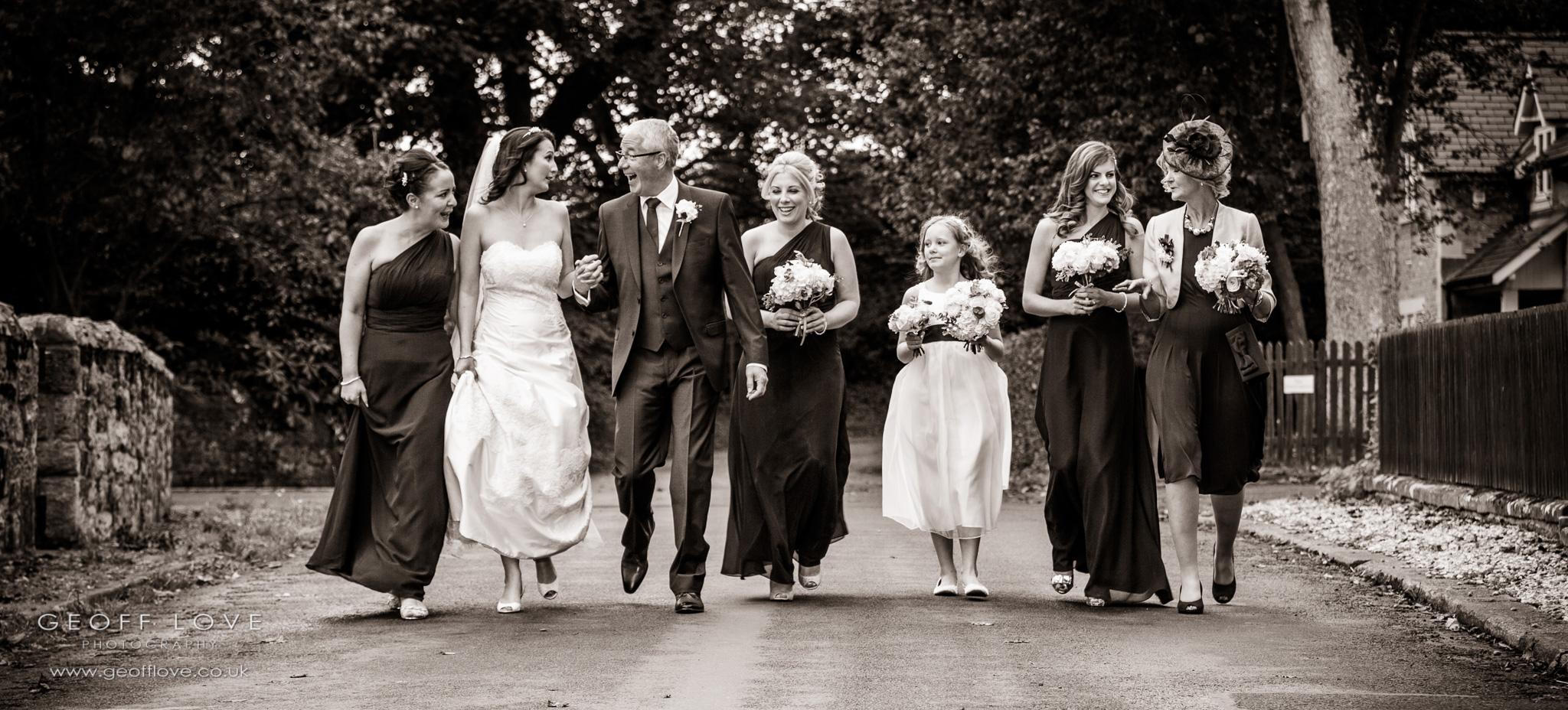 eshott hall chapel wedding photographer