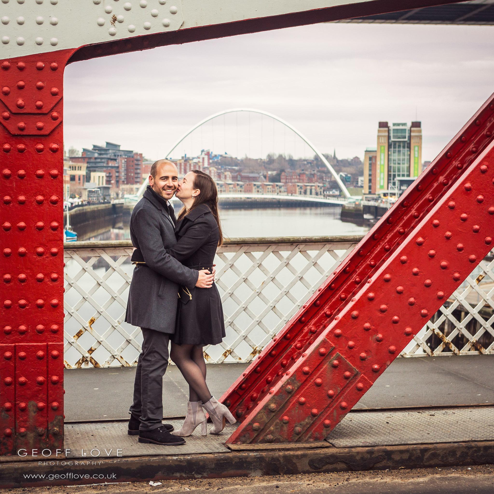 newcastle engagement photo
