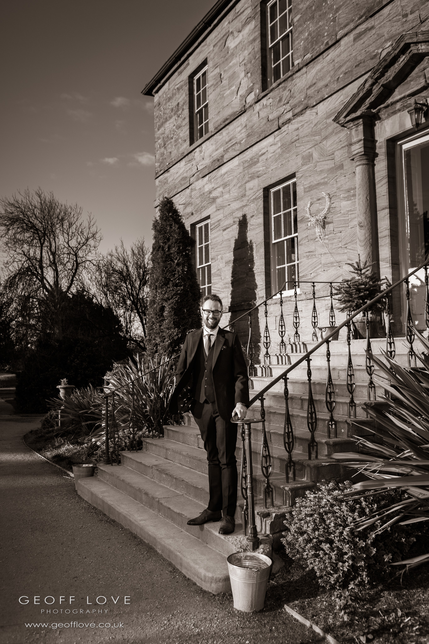 newton hall wedding photo