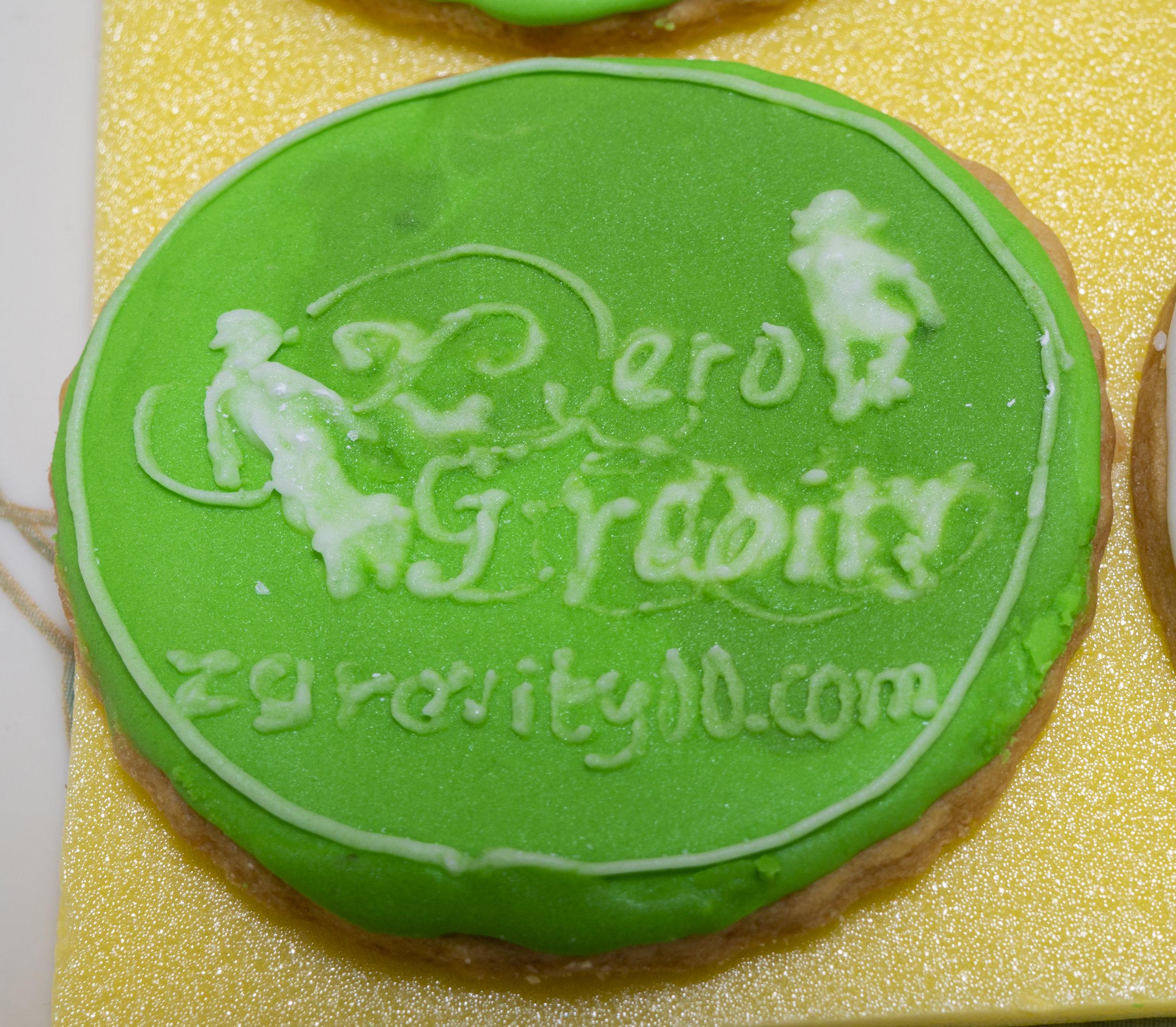 零重力のロゴのクッキー!
