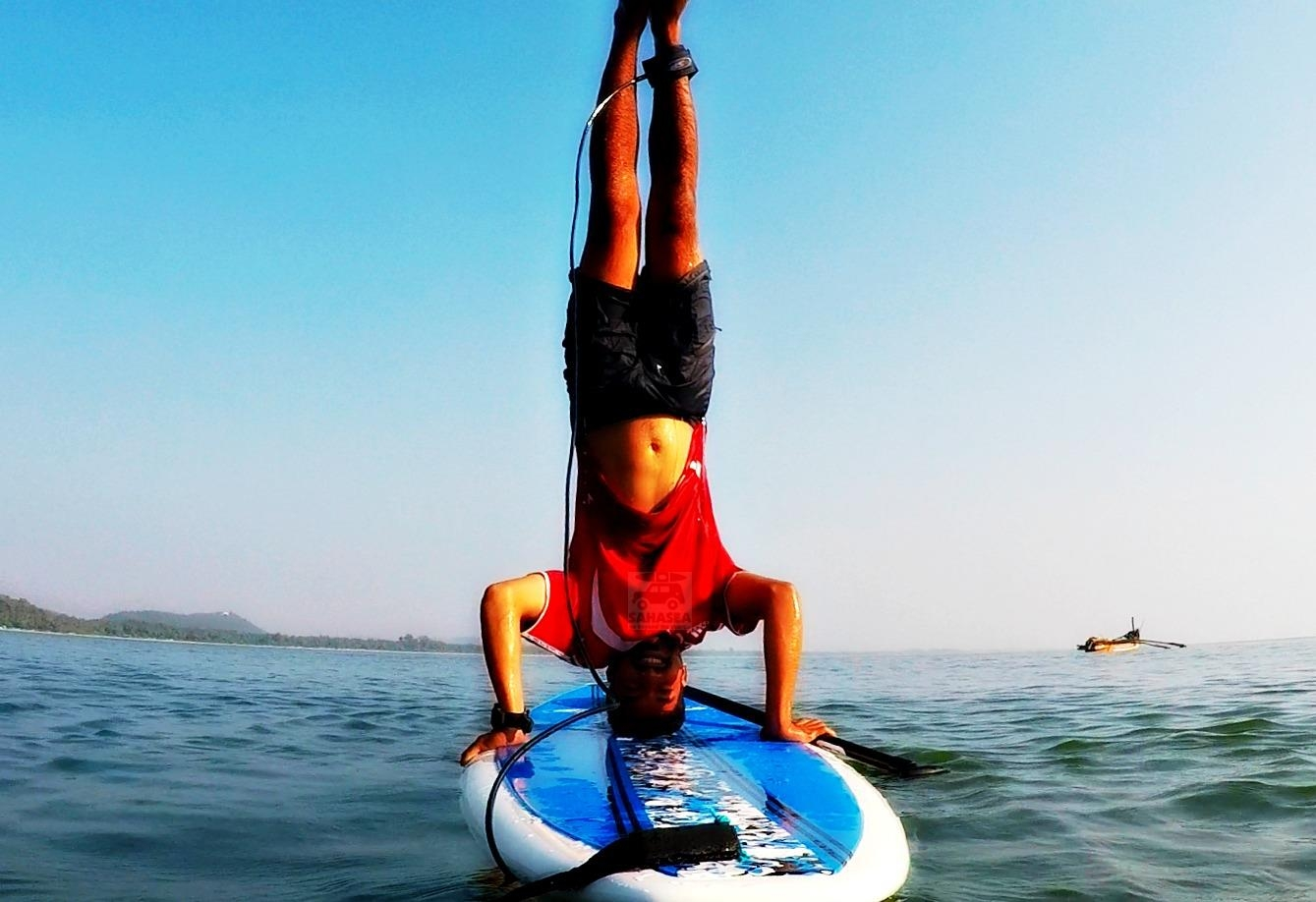 Copy of Stand up paddle boarding at Hollant Beach with Sahasea