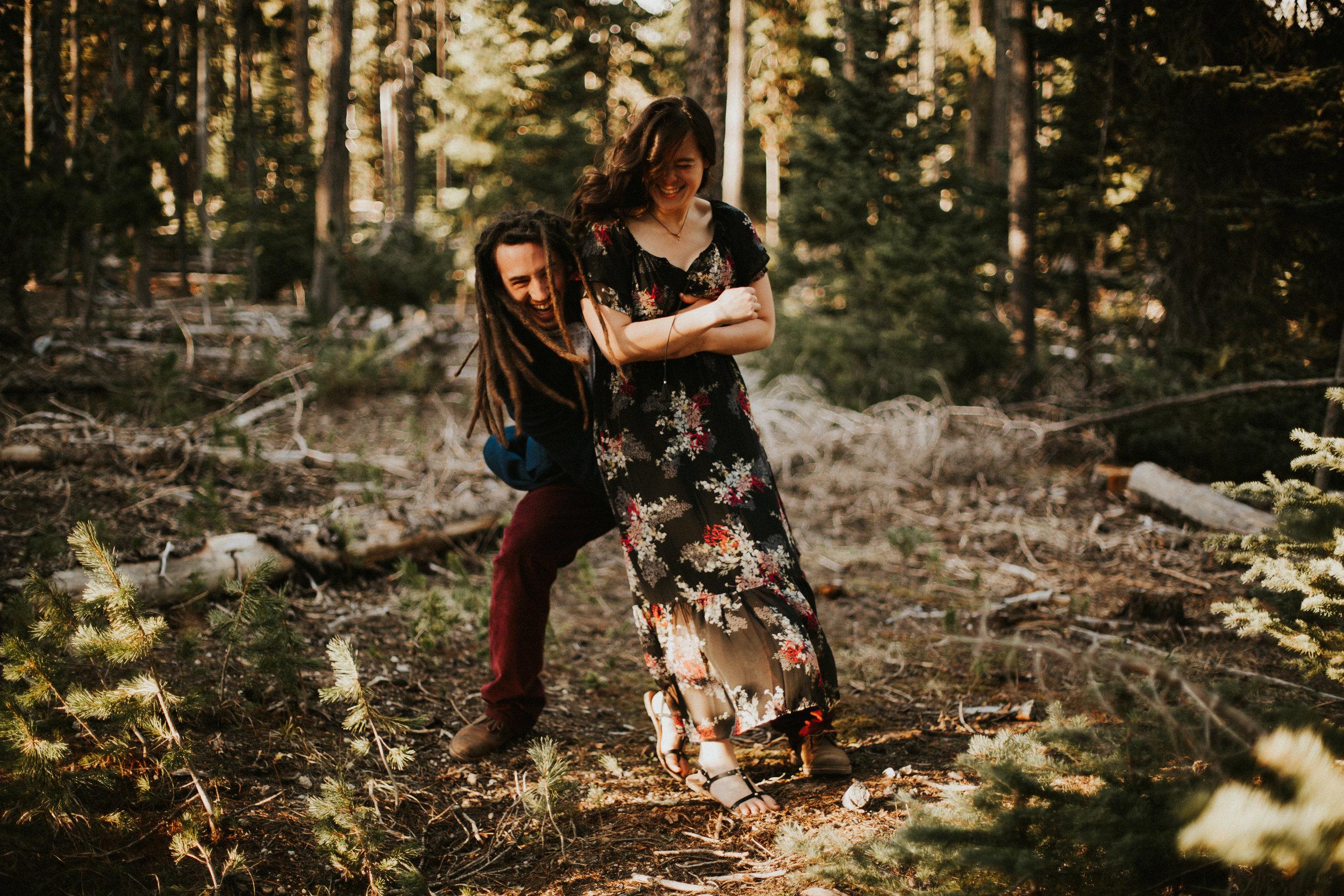 Elk Lake Engagement Session   Rosemary & Pine Photography