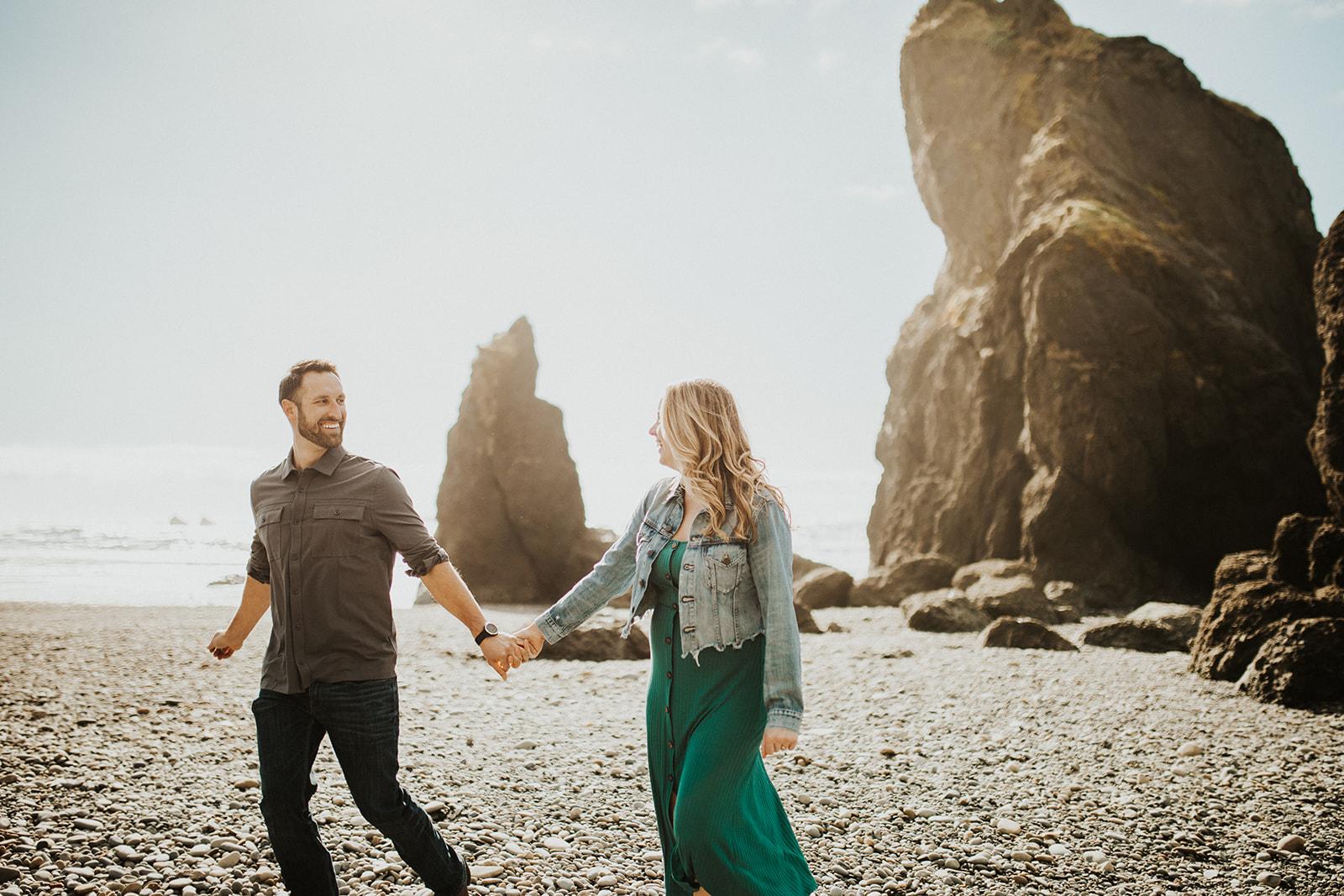Ruby Beach Engagement Session on the Washington Coast | Rosemary & Pine Photography