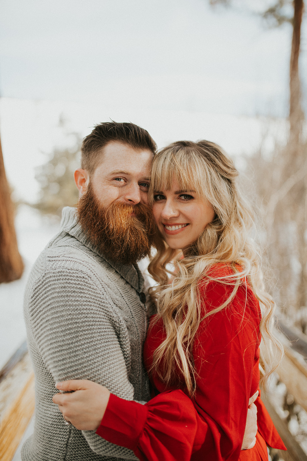 Bend Oregon Snowy Engagement Session | Central Oregon Photographer | Rosemary & Pine Photography