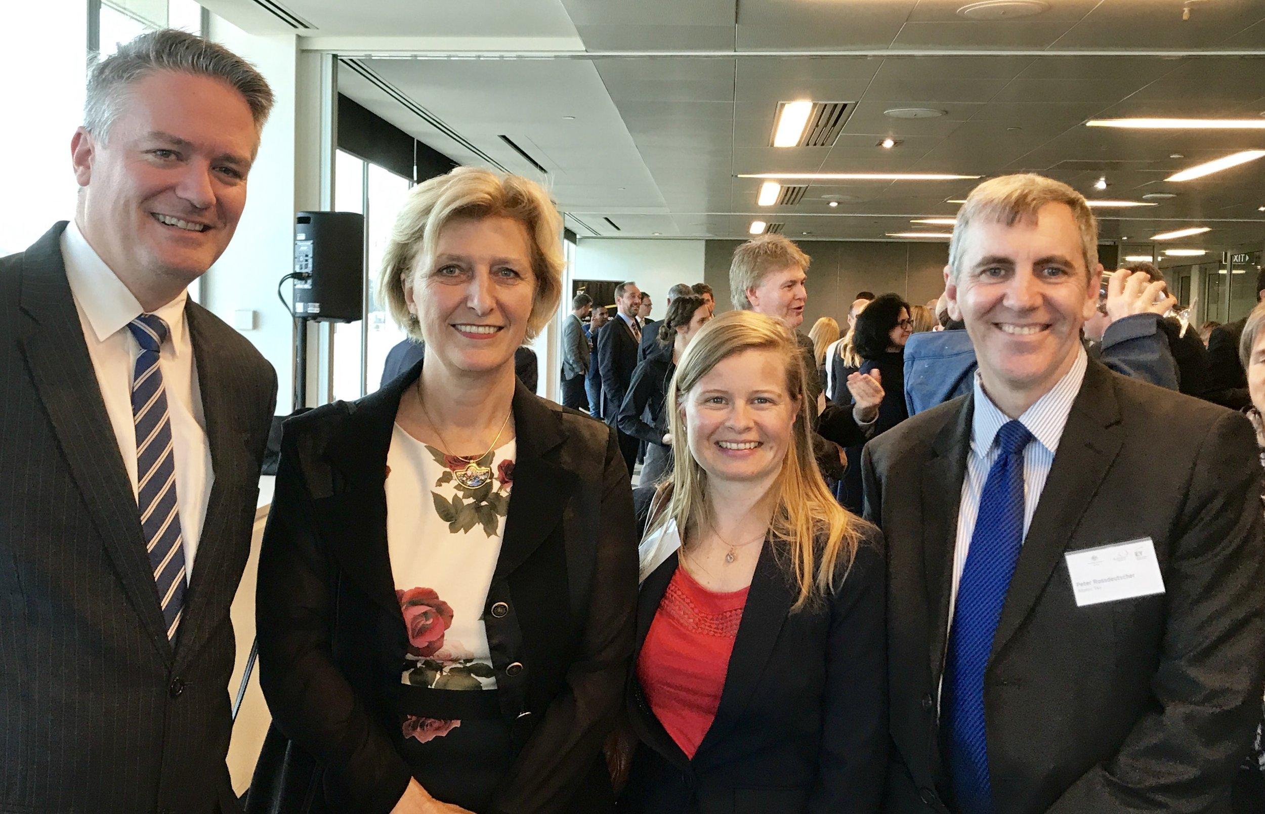 Minister Korman, Sofie MALDIID, Peter, German Ambassador 2017.jpg