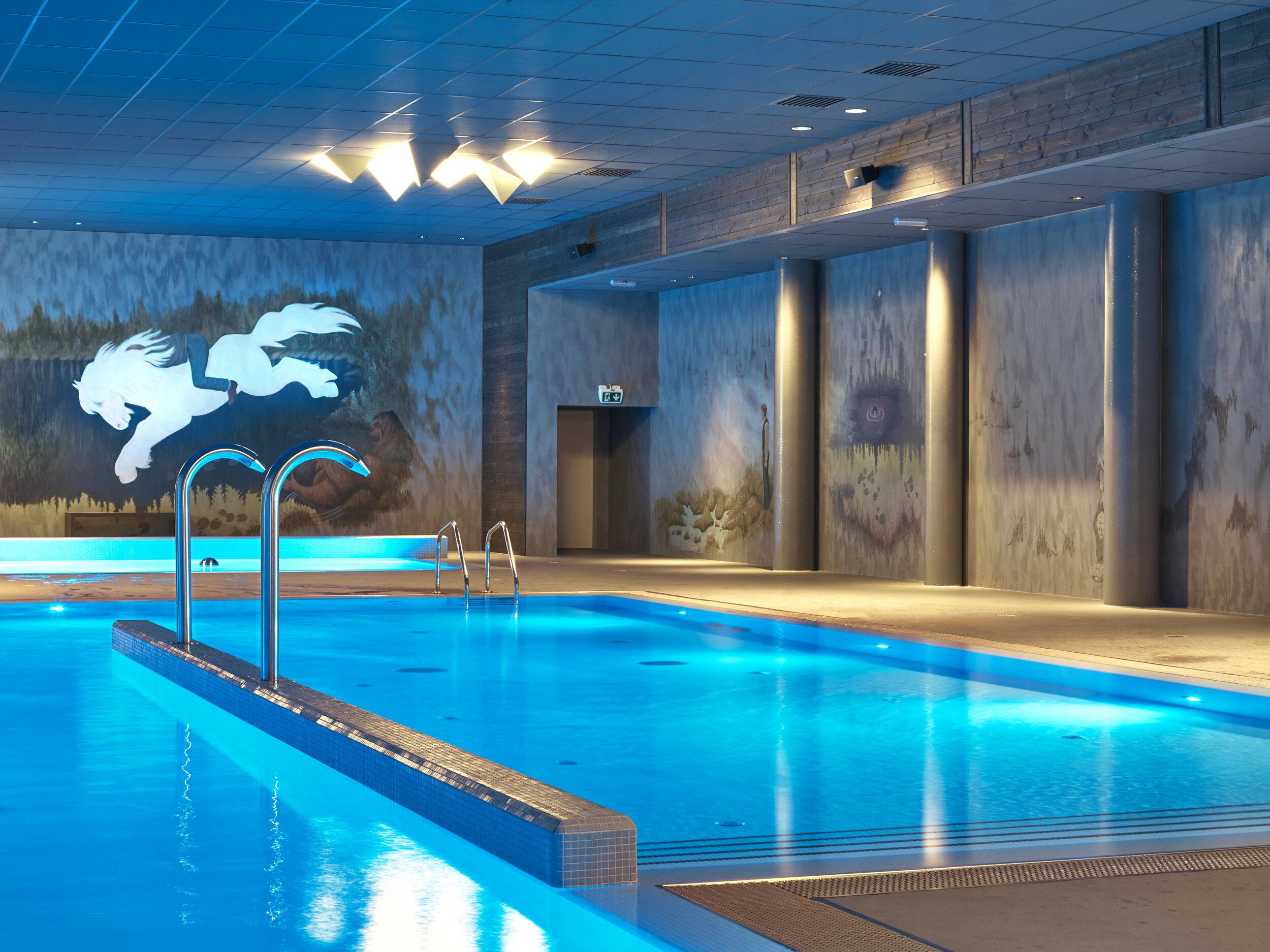 Eventyrbadet - Eventyrbadet på Vestlia Resort er på hele 750 kvadratmeter. Her finner du blant annet et 20-meters svømmebasseng, et aktivitetsbasseng og boblebad. Velkommen til en eventyrlig badeopplevelse i Eventyrbadet.ÅPNINGSTIDER:Hver dag 06:00-22:00