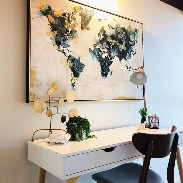 Nothing quiet finished off a study area than a piece of statement artwork! Contact us to discuss your styling and staging needs. . . . . . . . .     #homedecor #interiors #decor #architecture #homedesign #interiorstyling #style #interiordecor #interiordesigner #interiorstyle #interiorinspo #homestyle #lifestyle #realestate #instahome #interiorinspiration #homeinspiration #instadesign #melbournerealestate #dreamhome #instahouse #realtor #interiordesign #forsale #househunting #realestateagent #homeimprovement #remodeling #newhome #kitchendesign