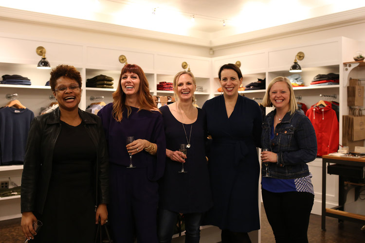 Poplin Style Direction founder Mellicia Marx with clients and friends at the Poplin Anniversary Party in 2014.