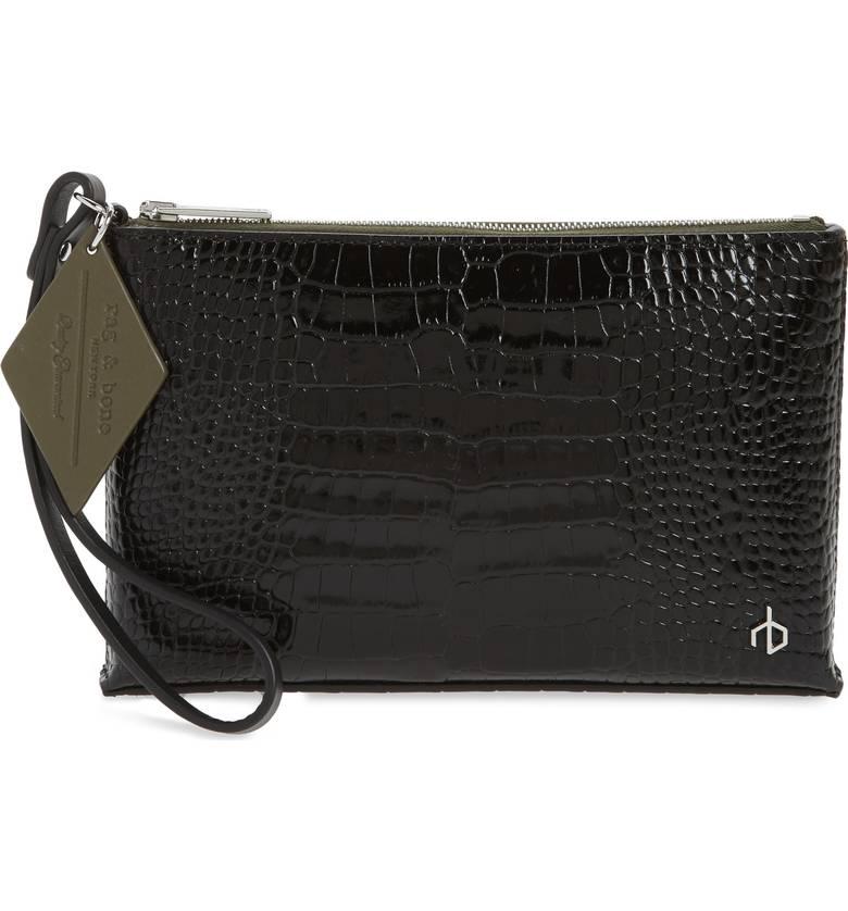 Rag & Bone Croc Embossed Leather Wristlet. Nordstrom. $325.