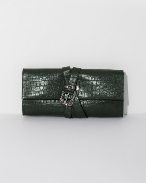 MM6 MAISON MARGIELA  croc belted clutch. The Dreslyn. $645.