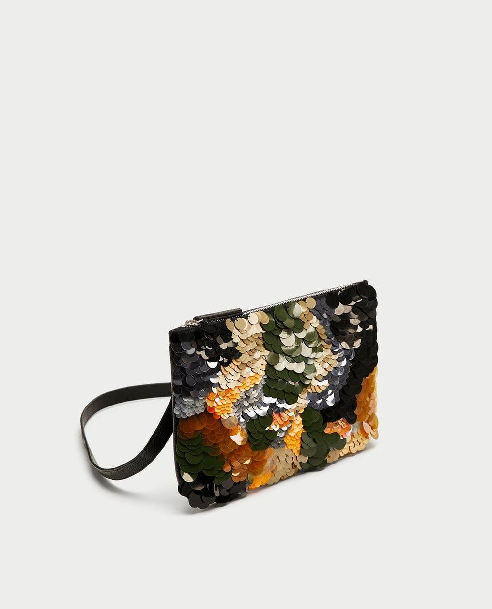 SEQUINNED BELT BAG CLUTCH. Zara. $39.