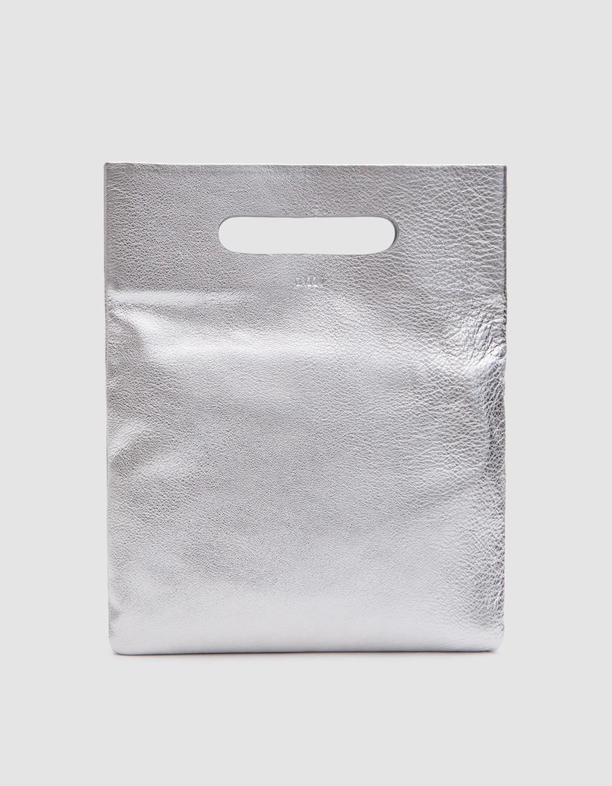 Baggu  LPB Clutch in Silver. Need Supply. $120.