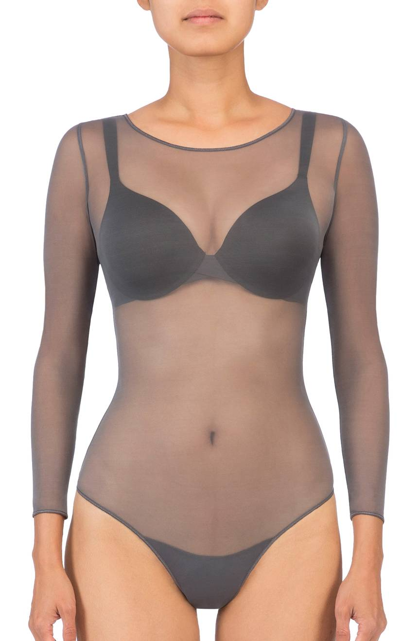 Spanx Long Sleeve Mesh Bodysuit. Nordstrom. Was: $50. Now: $29.