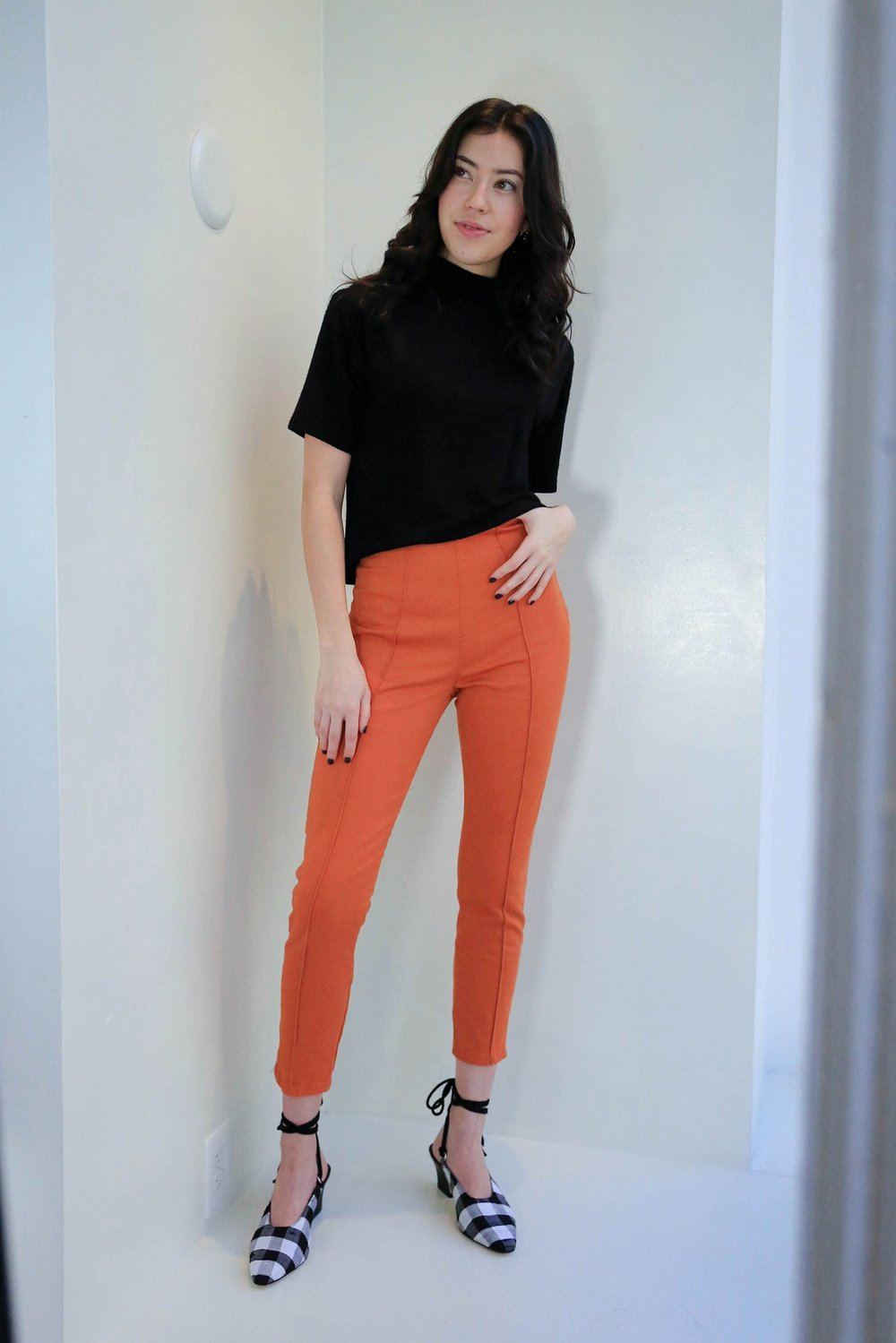 Local favorite Clementine's has SO many items I adore crammed into a cozy shop. That's expert buying. Try these cigarette pants from Prairie Underground for that extra pow without sacrificing comfort. Love these for most body types. It's all about the styling.  Prairie Underground Cigarette Legging in Madrona. Clementine's. $149.