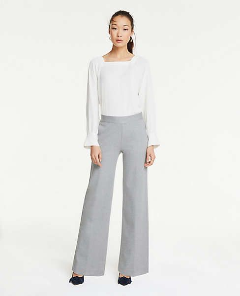 Ponte Side Zip Wide Leg Pants. Available in petite, tall, regular. Ann Taylor. $89.