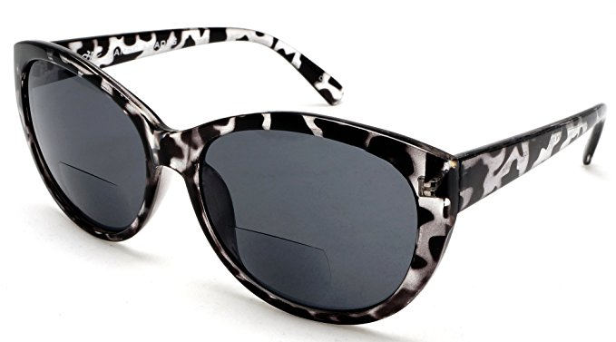 Women's Bi-Focal Sun Readers (if you need them inside, you need them to read a book on the beach.) Fashion Cat Eye Sunglasses. Amazon. $29.