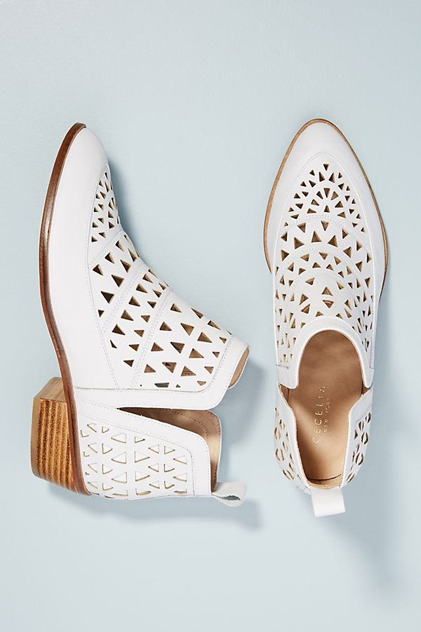 Cecelia New York Catherine Perforated Booties. Available in multiple colors. Anthro. $238.
