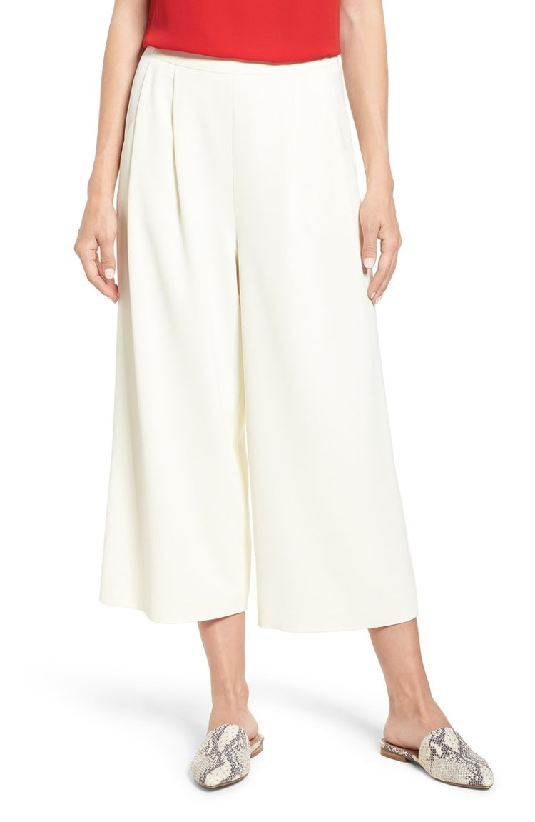 Vince Camuto Front Pleat Wide Leg Crop Pants. Nordstrom. Will be: $109. Anniversary Price: $72.