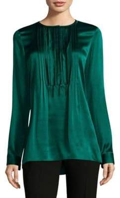 Elie Tahari Dabney Pleated Silk Blouse. Saks Off 5th. Was: $248. Now: $98.