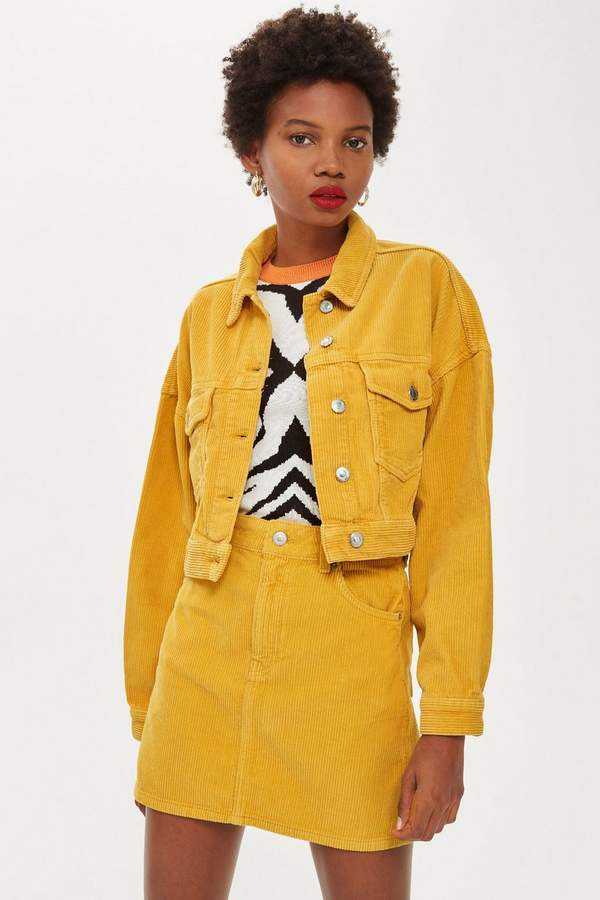 Topshop Mustard Corduroy Jacket. Topshop. $85.