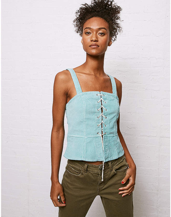 Aeo Don't Ask Why Corduroy Lace-Up Tank. American Eagle. $34.
