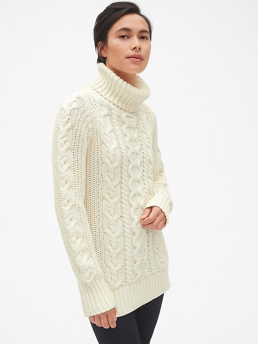 Cable-Knit Turtleneck Tunic Sweater. Available in multiple colors. Gap. Was: $59. Now: $42.