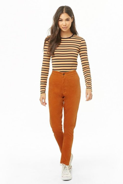 High-Rise Corduroy Pants. Available in two colors. Forever 21. $17.